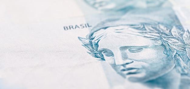 Detalhe de nota de 100 reais