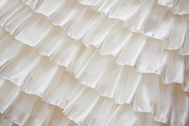 Detalhe de um vestido de noiva