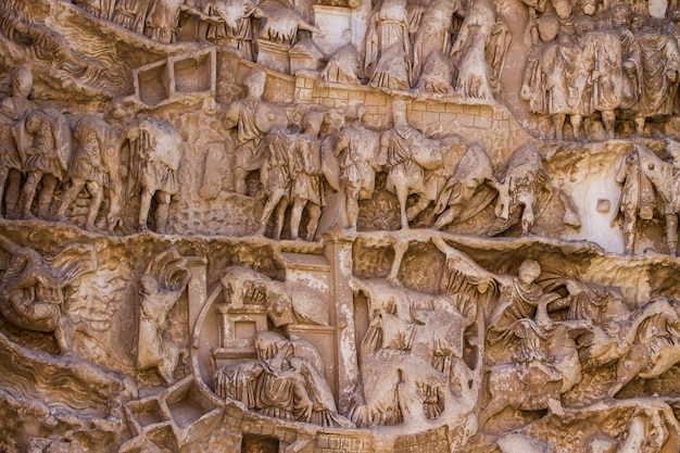 Detalhe do arco de septimius severus no fórum romano