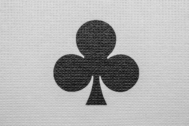 Detalhe do ás de clubes. cartas de jogar pôquer