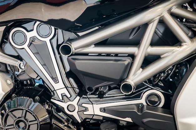 Detalhe do motor da motocicleta moderna. motobike