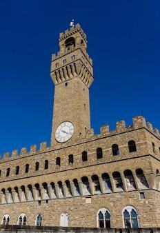 Detalhe do palazzo vecchio em florença, itália