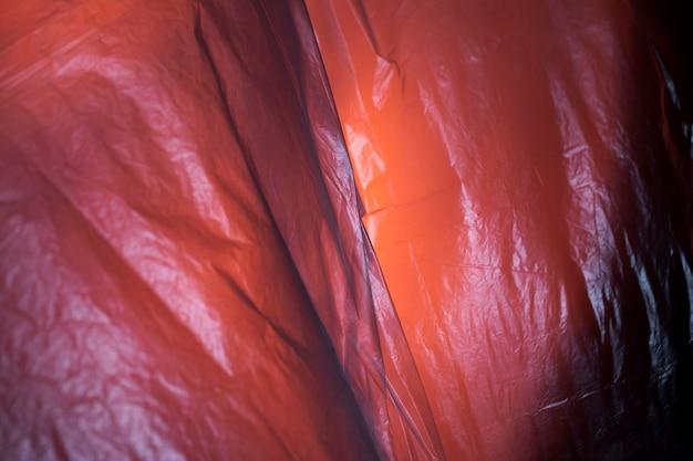 Detalhe do saco de plástico