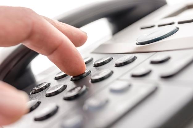Detalhe do teclado do telefone