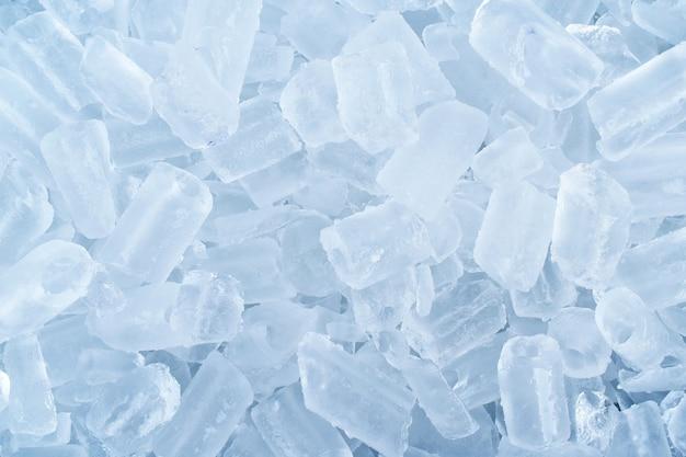 Detalhe lotes de gelo branco para o fundo