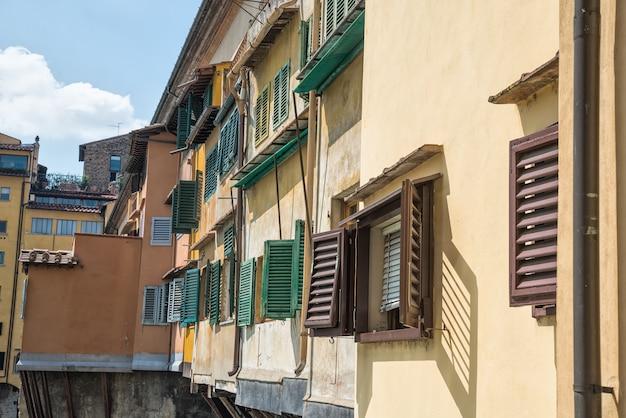 Detalhe ponte vecchio, florença, itália