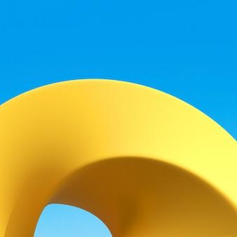 Detalhes abstratos do edifício amarelo arquitetura mínima