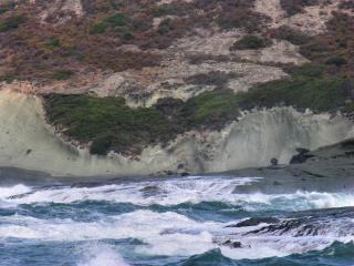 Detalhes da costa da sardenha, em itália