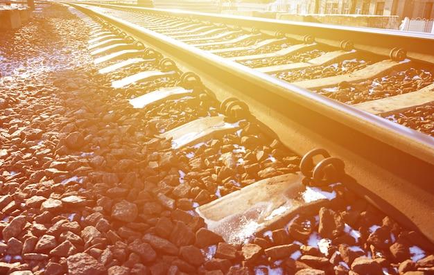 Detalhes da ferrovia de inverno