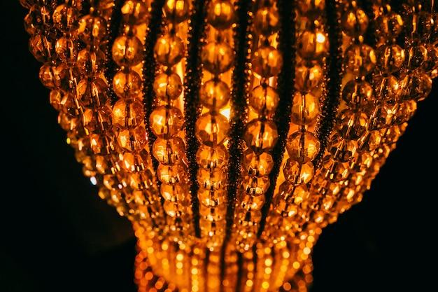 Detalhes da lâmpada de cristal do vintage