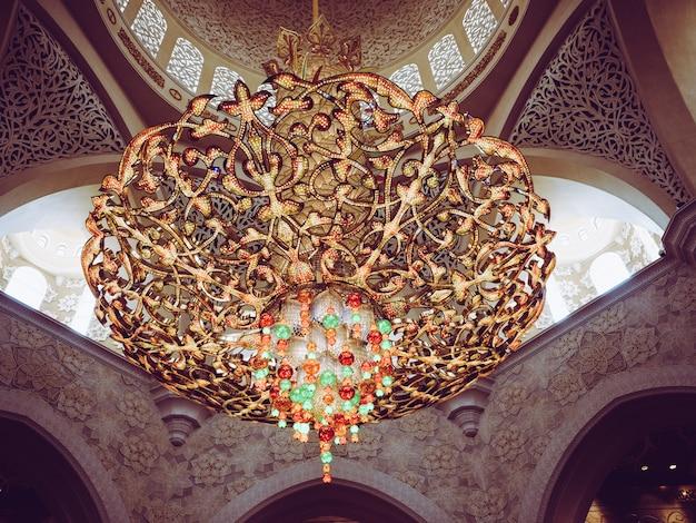 Detalhes da mesquita sheikh zayed em abu dhabi