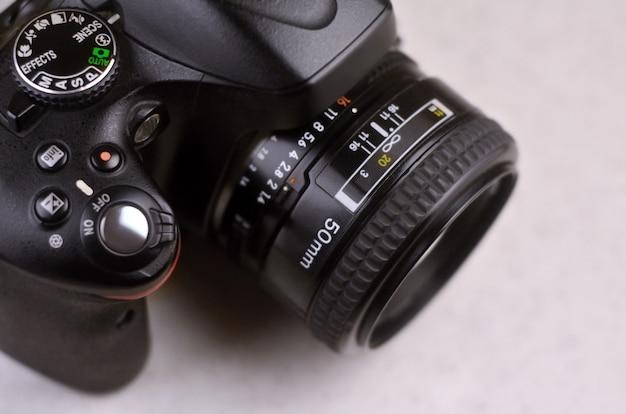 Detalhes da moderna photocamera digital slr