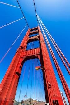 Detalhes da ponte golden gate em san francisco na califórnia