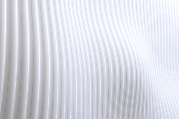 Detalhes de fundo branco de arquitetura de onda de parede abstrata