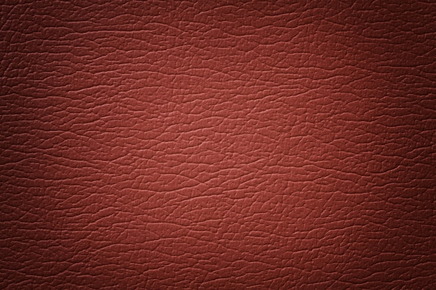 Detalhes de fundo de textura de couro laranja escuro