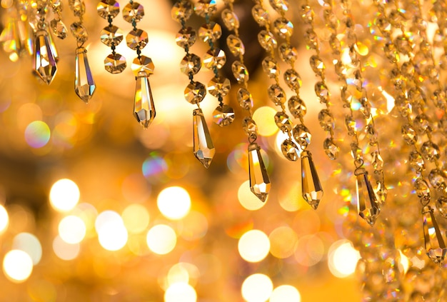 Detalhes de lâmpada de cristal vintage