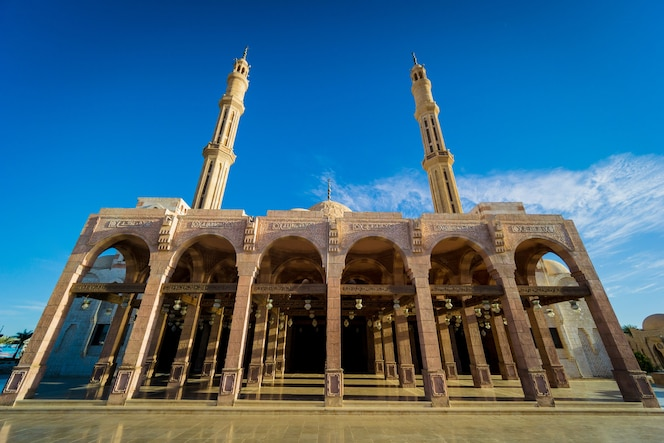 Detalhes do fragmento da religião islâmica de uma grande mesquita