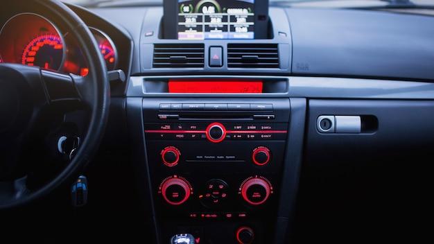 Detalhes do interior do carro de perto