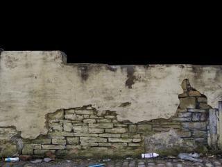 Deterioração da parede suja urbanos antigos