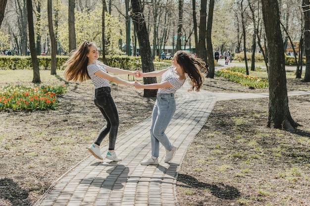 Dia da amizade estilo de vida de garotas melhores amigas