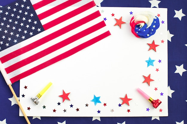 Dia da independência americana, cartão