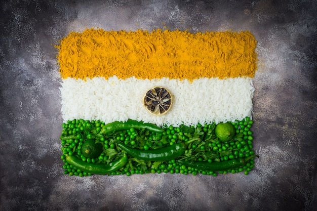 Dia da independência da índia 15 de agosto conceito: bandeira nacional indiana