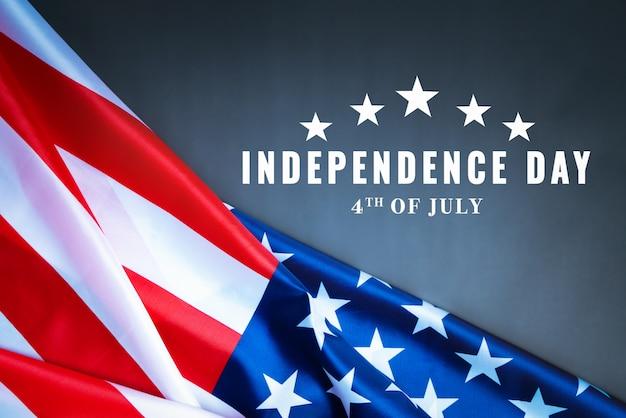 Dia da independência dos eua 4 de conceito de julho, bandeira dos estados unidos da américa