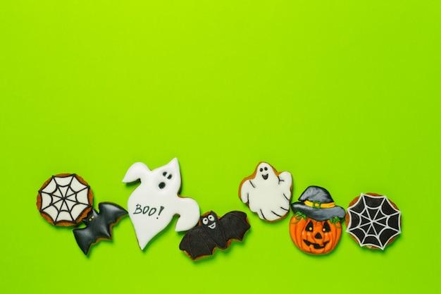 Dia das bruxas, com, biscoitos