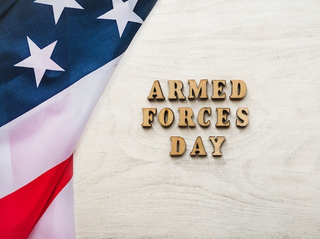 Dia das forças armadas. lindo cartão de felicitações.