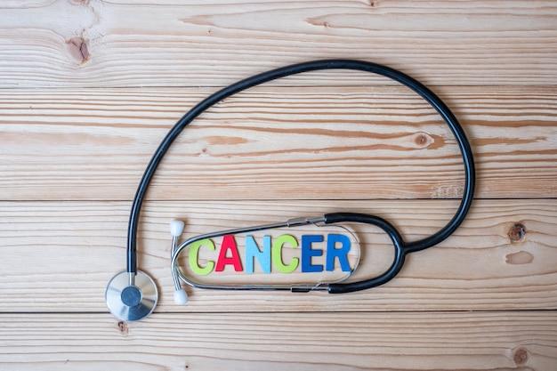 Dia de câncer mundial (4 de fevereiro) com stethoscpoe