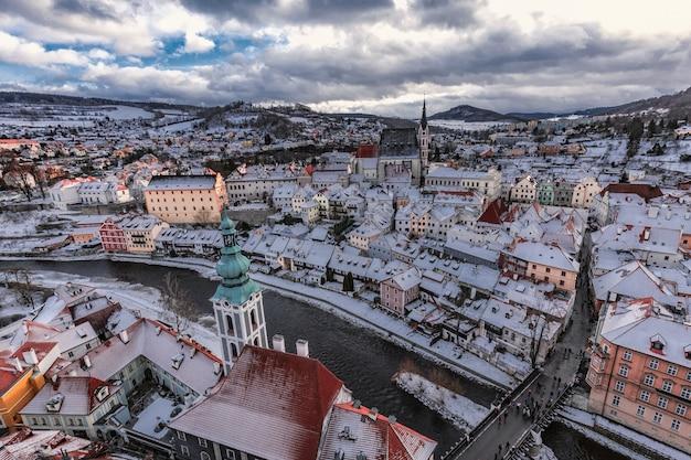 Dia de inverno de cesky krumlov