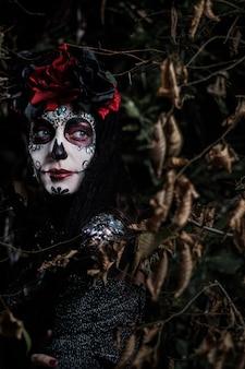 Dia de los muertos, retrato de uma jovem