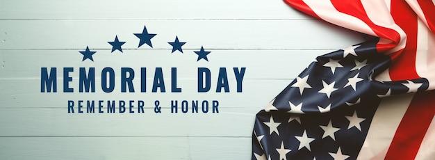 Dia do memorial dos eua e conceito do dia da independência, bandeira dos estados unidos da américa