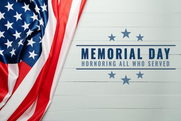 Dia do memorial dos eua e conceito do dia da independência, bandeira dos estados unidos da américa Foto Premium