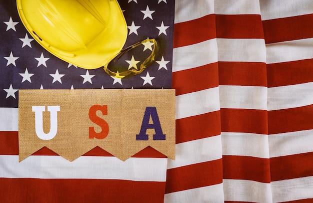 Dia do trabalho é um feriado federal da vista superior dos estados unidos da américa