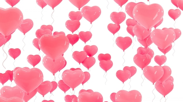 Dia dos namorados balões 3d.