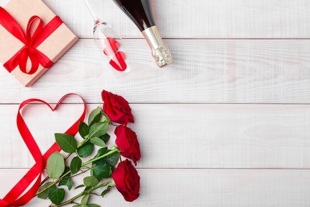 Dia dos namorados jantar cenário romântico
