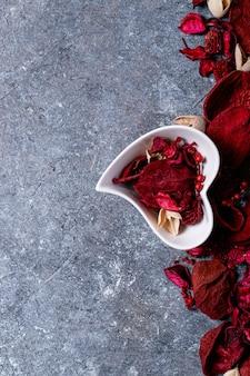 Dia dos namorados pratos de cerâmica