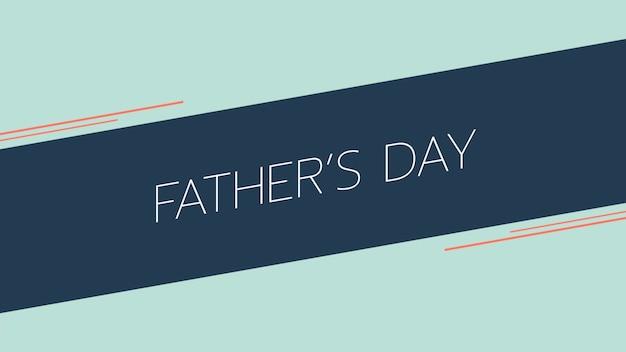 Dia dos pais de texto sobre fundo azul de moda e minimalismo com linhas geométricas. estilo de ilustração 3d elegante e luxuoso para negócios e modelo corporativo