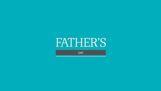 Dia dos pais de texto sobre fundo azul de moda e minimalismo. estilo de ilustração 3d elegante e luxuoso para negócios e modelo corporativo
