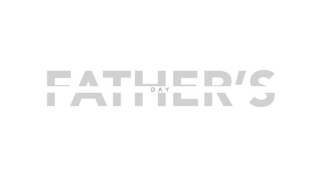Dia dos pais de texto sobre fundo branco de moda e minimalismo. estilo de ilustração 3d elegante e luxuoso para negócios e modelo corporativo