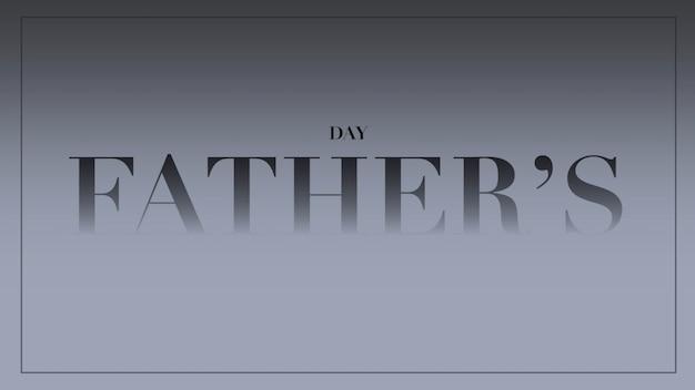 Dia dos pais de texto sobre fundo cinza de moda e minimalismo com moldura. estilo de ilustração 3d elegante e luxuoso para negócios e modelo corporativo