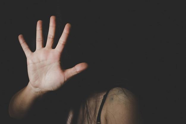 Dia internacional da mulher, pare o abuso sexual, pare a violência contra as mulheres