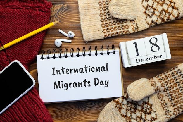 Dia internacional dos migrantes em dezembro