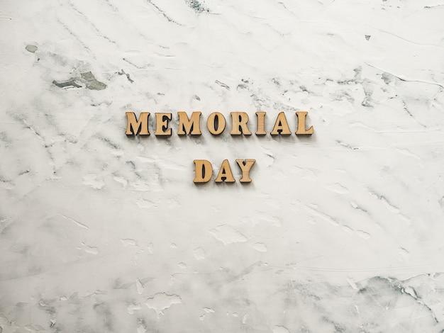 Dia memorial. lindo cartão de felicitações. close-up, vista de cima.