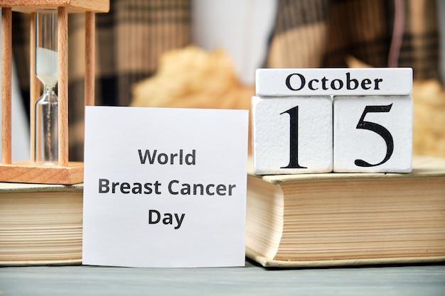 Dia mundial do câncer de mama do outono, mês calendário outubro
