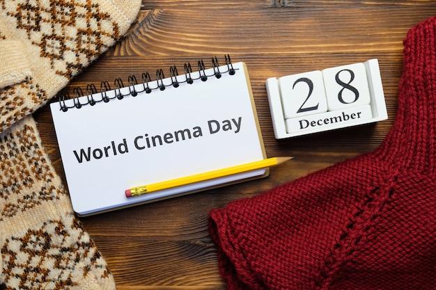 Dia mundial do cinema em dezembro