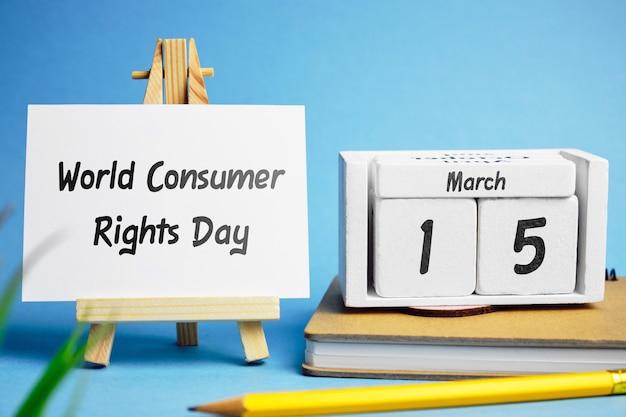 Dia mundial dos direitos do consumidor em 15 de março