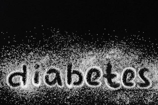 Diabetes feito de açúcar