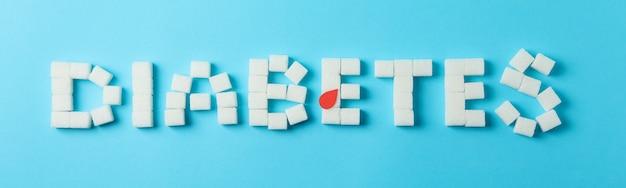 Diabetes feito de cubos de açúcar